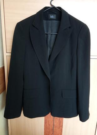 Стильный, женский, деловой, брендовый пиджак черного цвета
