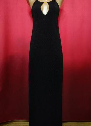 Вечернее платье блестящее в пол