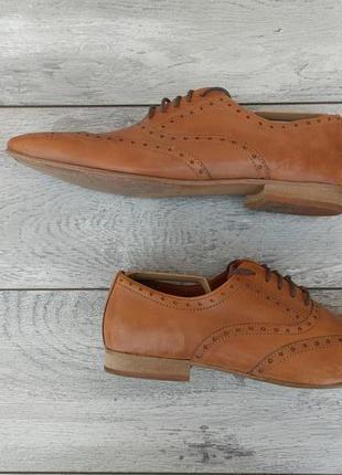 Next мужские туфли броги кожа оригинал весна