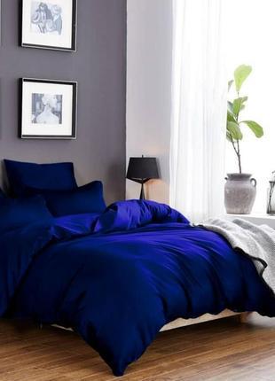 """Комплект сатинового постельного белья """"синее море"""", все размер..."""