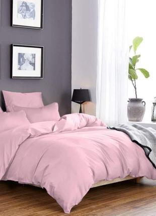 """Комплект сатинового постельного белья """"розовая пастель"""", все р..."""