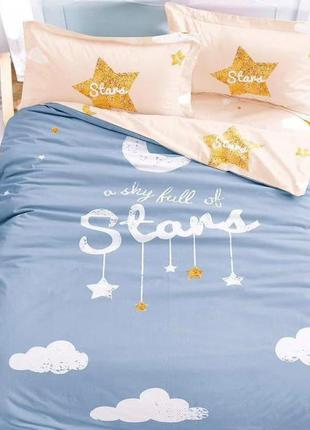 Яркий комплект постельного белья для девочки с большим рисунко...