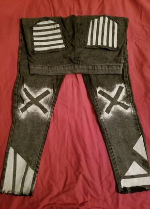 джинсы лосины