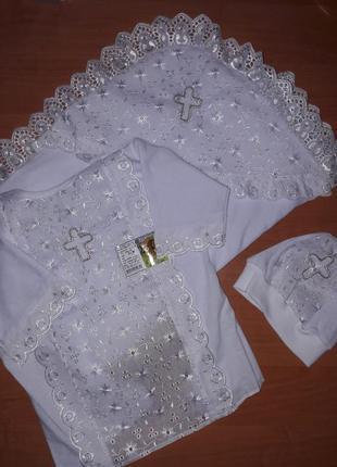 Крестильный набор крыжма рубашка