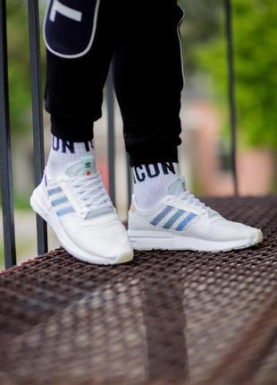 👟кроссовки adidas zx 500 на лето белые 👟