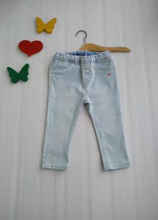 9-12 мес джинсы для девочки h&m