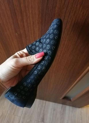 Кожаные замшевые туфли балетки макасины