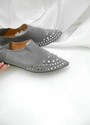 Мюли туфли балетки  лоферы макасины эко замш