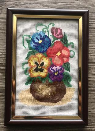 Картина вышивка крестом цветы
