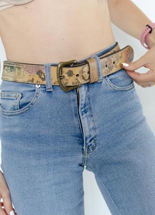 Levis кожаный ремень под джинсы с винтажным принтом, из натура...