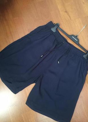 Летние шорты из вискозы по талии на резинке