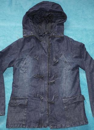 Женская nikita курточка джинс парка деми застежка клевант капюшон
