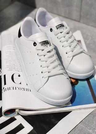 Кроссовки adidas stan smith black  and white