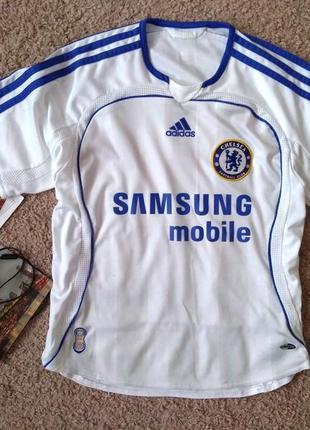 Футбольная футболка chelsea челси adidas детская 140