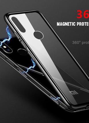 Чёрный металический магнитный чехол 360 xiaomi mi 9 t