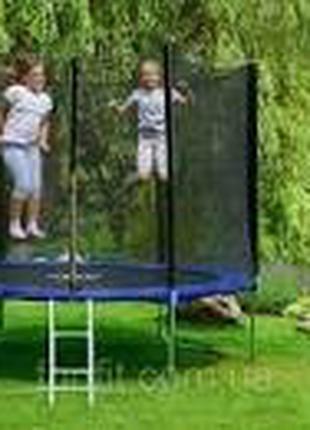 Детский батут funfit 312 см с сеткой + лестница