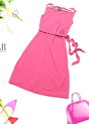 Ярко- розовое платье