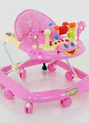 Детские музыкальные ходунки для девочек «Моё первое авто» JOY 528