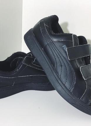 Детские кожаные кроссовки на липучках puma ( пума 33рр 20см )