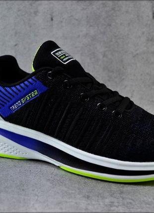 Мужские кроссовки Trend System BlackxBlue, Летняя обувь