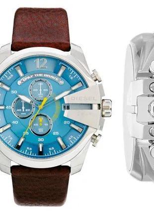 Мужские часы Diesel 10 bar модель DZ4281 с кожаным ремешком