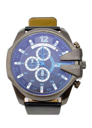 Мужские часы Diesel 10 bar с кожаным ремешком