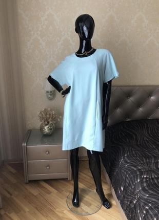 Платье мятное, размер хл