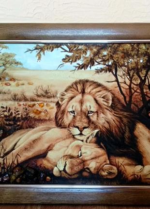 Картина из янтаря 40*60см