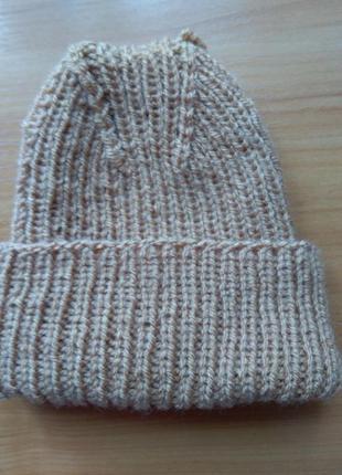 Подарок!актуальная шапка бини