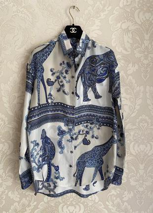 Etro оригинал италия дизайнерская шелковая рубашка блуза
