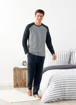 Мужской флисовый костюм для дома, флисовая пижама livergy