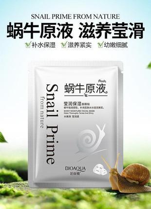 Питательная антивозрастная маска bioaqua mask snail prime, 30 г.