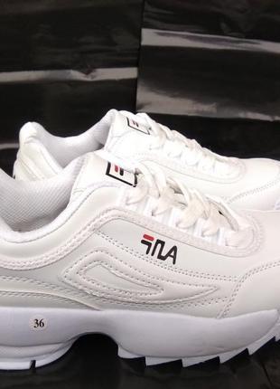 Модные белые женские кроссовки в стиле fila, кроссовки фила