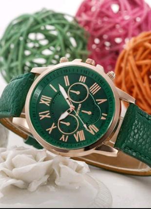 Часы наручные зеленые
