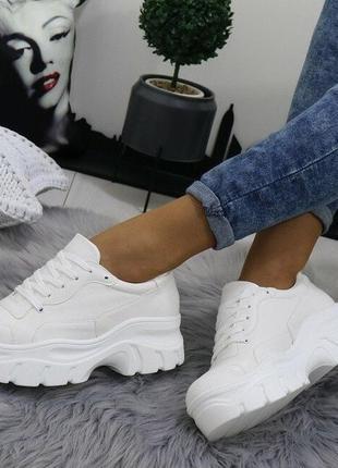 Белые женские кроссовки на платформе 38,39р