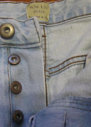 Джинсы светлые голубые скини denim co размер 50-52.