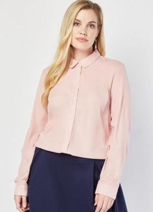 Пудровая шифоновая блузка next 20---56 размер.