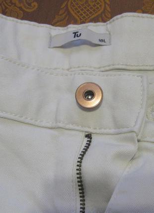 Стильные джинсы скинни с высокой посадкой tu светлые р.54-56 н...
