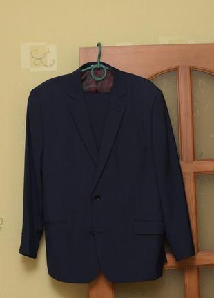 Мужской деловой классический костюм пиджак брюки