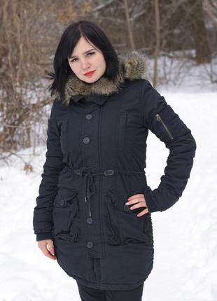 Женская люкс парка куртка с мехом длинная супер качество. ориг...