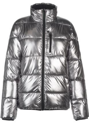 Женская куртка, пуховик женский цвет фольга, everlast оригинал
