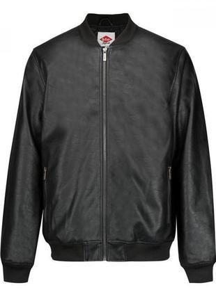 Кожаный бомбер куртка lee cooper