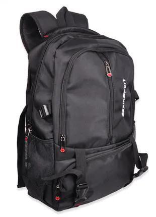 Рюкзак Zhierxin 8825, черный для туризма, школы, учебы, отдыха