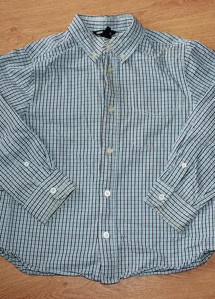 Рубашка сорочка школьная форма в клеточку на мальчика рост 128...