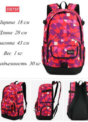 Молодежный рюкзак Dingshixuan D875F для школы, туризма, отдыха