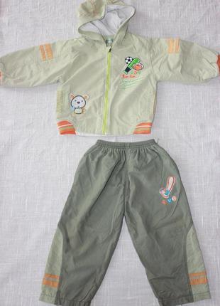 Костюм демисезонный курточка брючки весенний на мальчика 1-2 г...