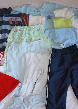 Пакет детских вещей мальчик 3-6 мес лот одежды весна- лето чел...