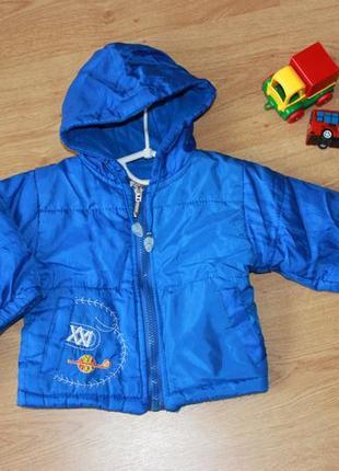 Куртка демисезонная осенняя на мальчика 6-12 месяцев 1-1,5 лет...