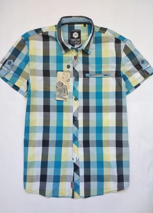 Мужская рубашка в клетку размер л