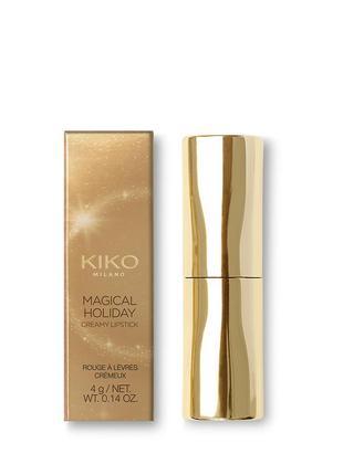 Кремовая помада. kiko milano magical holiday creamy lipstick.